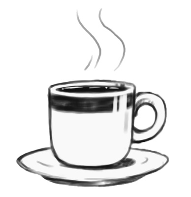 Cappuccino clipart black and white Cliparts Art on Free Clip
