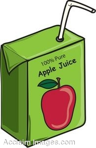 Drink clipart juice box A of straw  straw