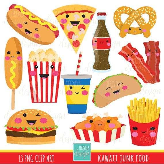 Drink clipart junk food Kawaii clipart 80% food kawaii