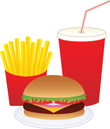 Drink clipart junk food Drink Fast Hamburger Meal a