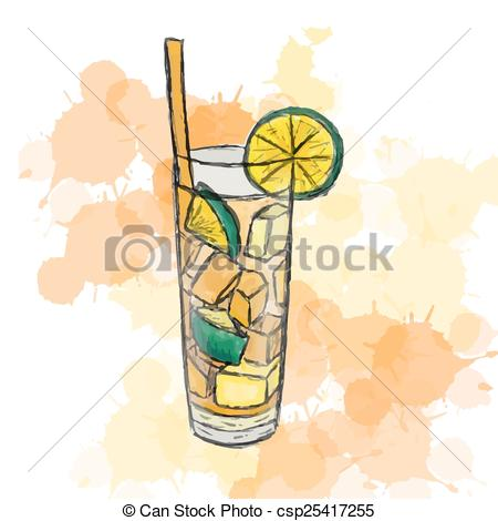 Drink clipart long island Vector cocktail Vector of Island