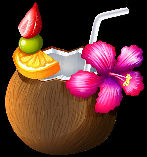 Drink clipart luau Coconut Pinterest Clipart Cocktail Clipart