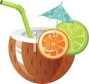 Drink clipart luau Coconut bebidas images 22 about