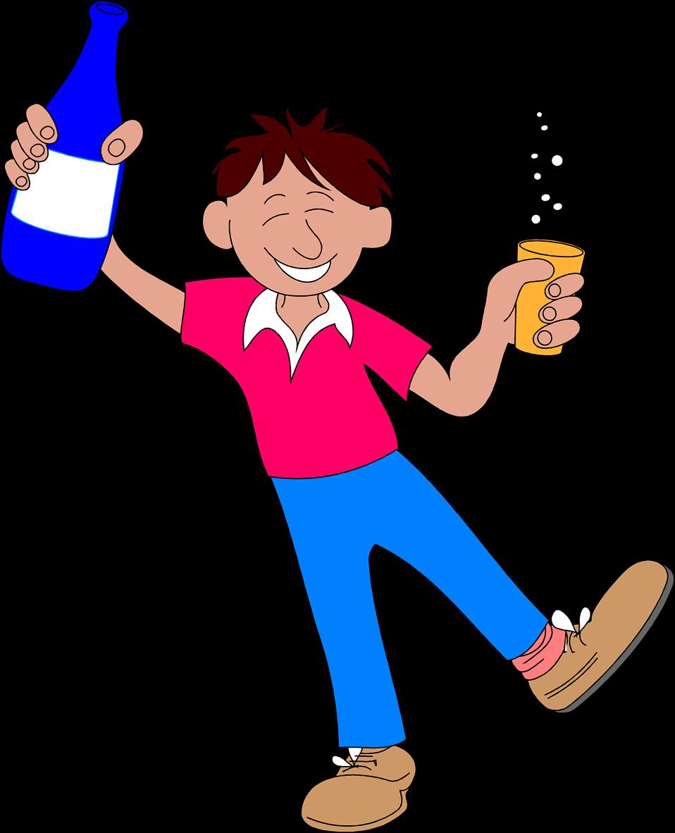 Alcohol clipart cartoon Man Photo with a a