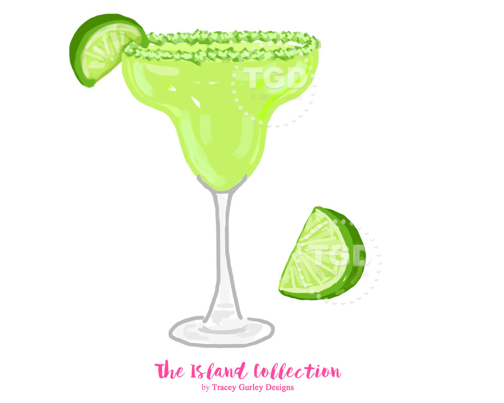 Drink clipart margarita Wedge Clip Art Preppy