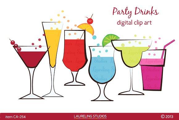Beverage clipart party drink Clip art drinks Illustrations Illustrations