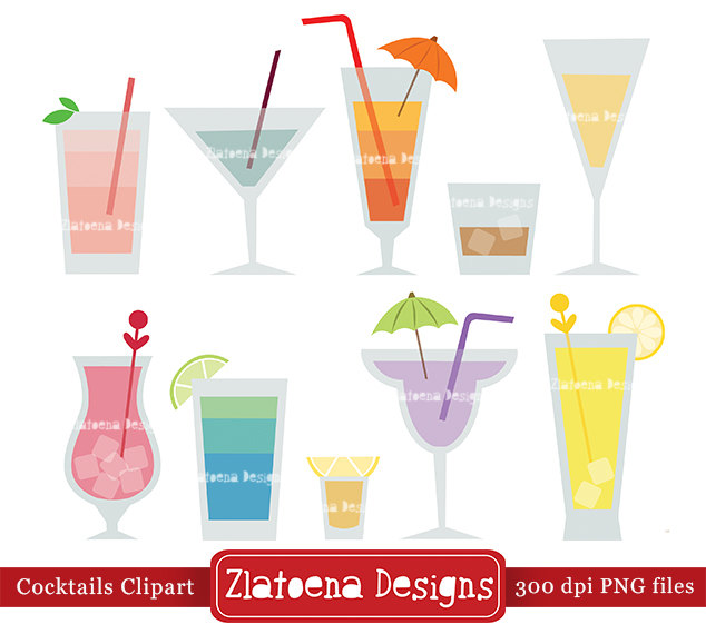 Alcohol clipart party drink For clipart Digital Drink Etsy