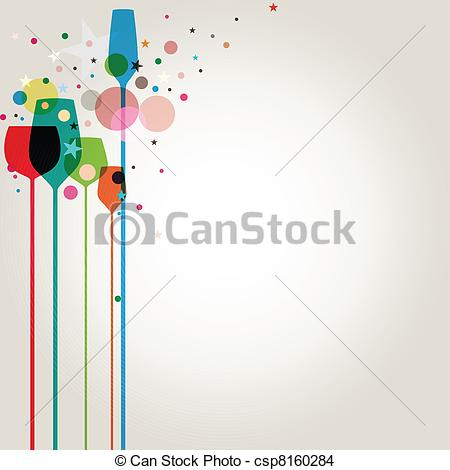 Alcohol clipart party drink Beautiful EPS Party of Vector