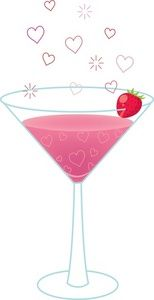 Drink clipart pink cocktail Best on DrinksClipart Strawberry MartiniFriday