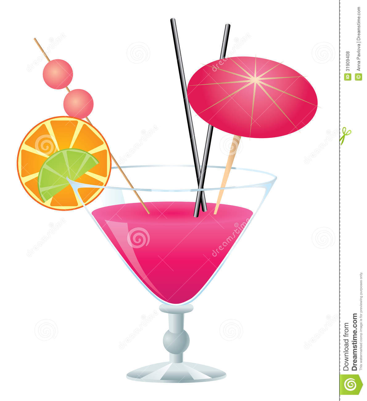 Drink clipart pink cocktail Images Free Clip Clipart Art