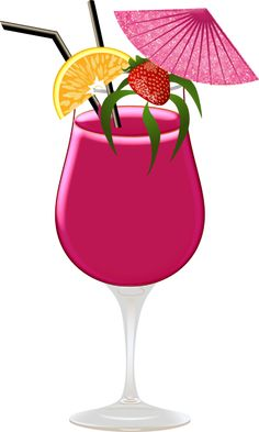Drink clipart pink cocktail Clipart DRINKS Cocktail ClipartFlamingoBirthday DecoupageStickersDrinksVacation