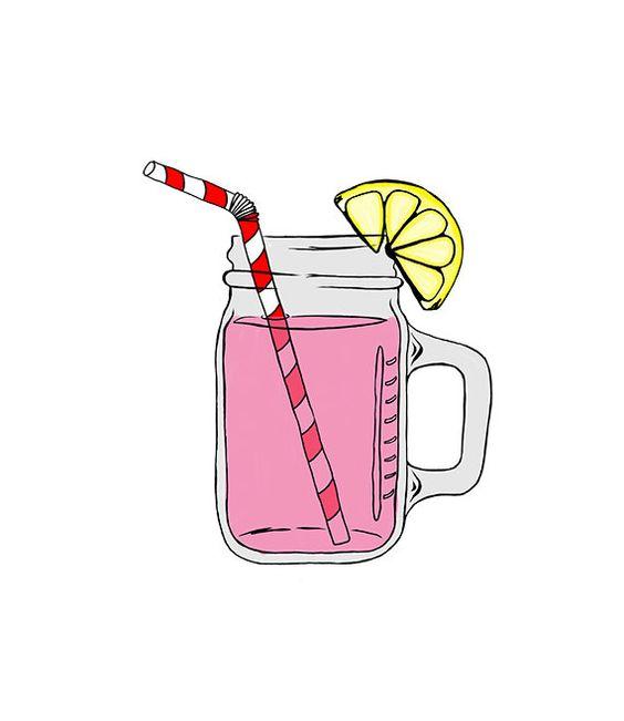 Drink clipart pink lemonade Lemonade Free Art Art Free