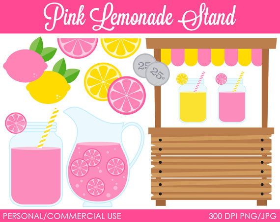 Drink clipart pink lemonade Pink Art Clip MareeTruelove Stand