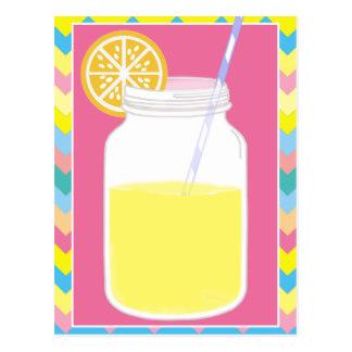 Drink clipart pink lemonade Pink Postcard Chevron Lemonade Lemonade