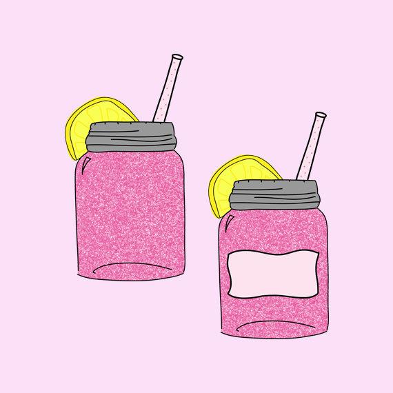 Drink clipart pink lemonade Clip on Drink Free
