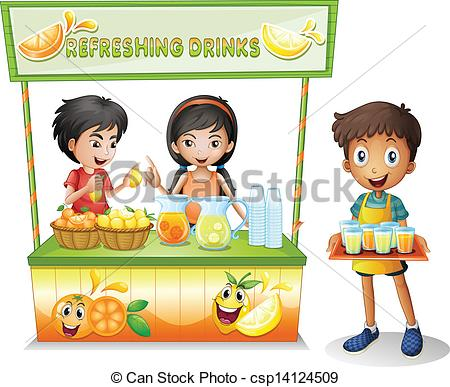 Drink clipart refreshment Three refreshing Clipart selling drinks