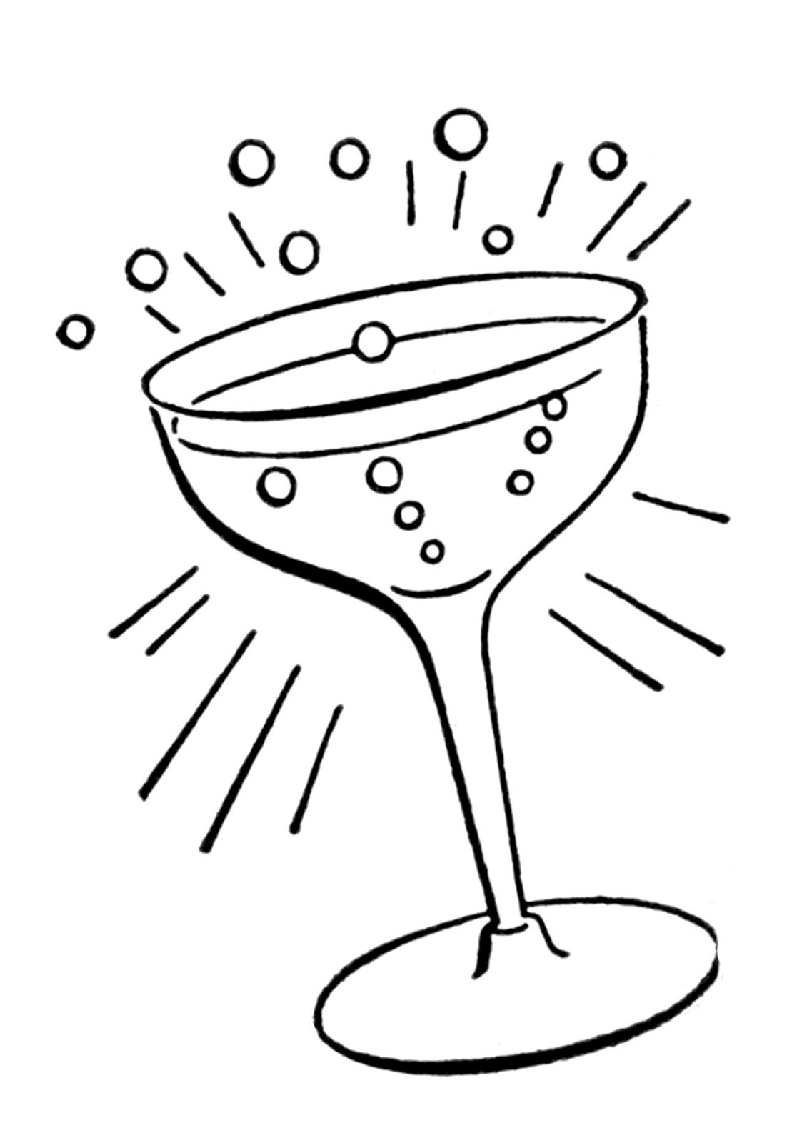 Drink clipart retro cocktail Cocktail image glass drawings fairy
