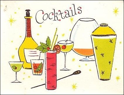 Drink clipart retro cocktail Images Pinterest Vintage on Vintage
