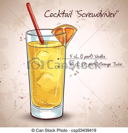 Drink clipart screwdriver Clip Screwdriver Screw Art cocktail