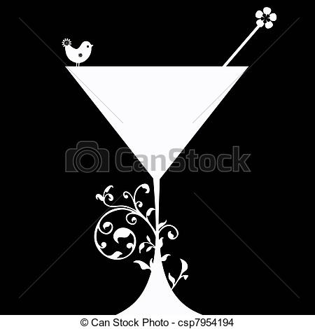 Drink clipart silhouette Silhouette drink a of Cocktail