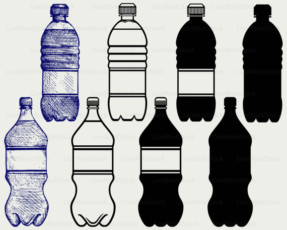 Drink clipart silhouette  svg water silhouette clipart
