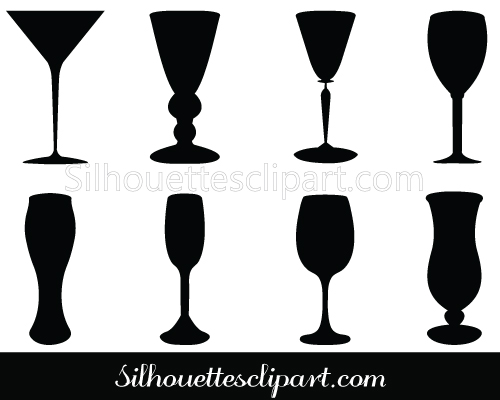 Drink clipart silhouette Vector Silhouette GENERAL Glass Silhouette