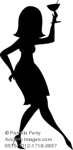Drink clipart silhouette Of Image Woman of a