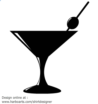 Drink clipart silhouette Clipart Silhouette Cocktail