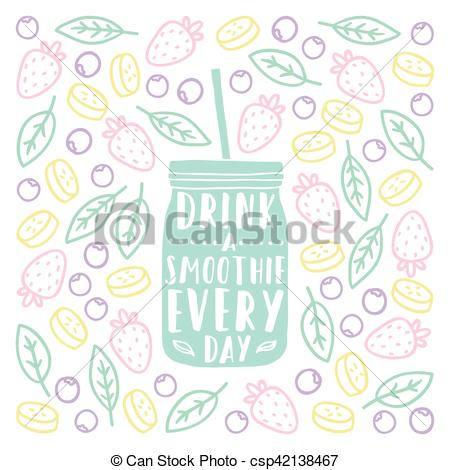 Drink clipart smoothy Lettering Drink smoothie silhouette doodles