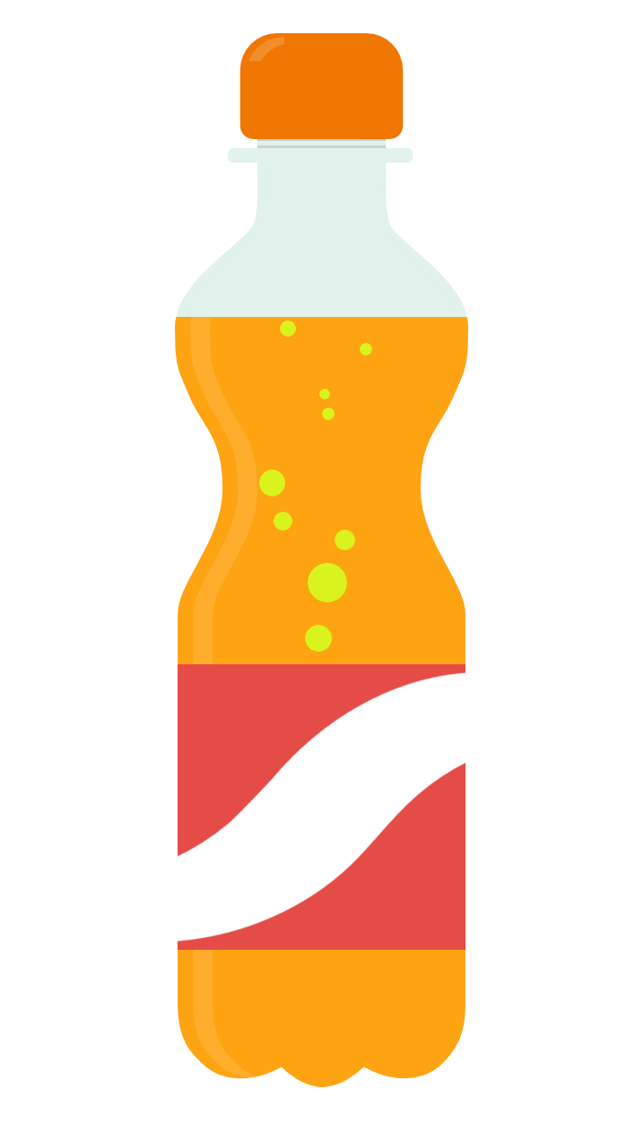 Drink clipart soda bottle Bottle Clip Orange to Use