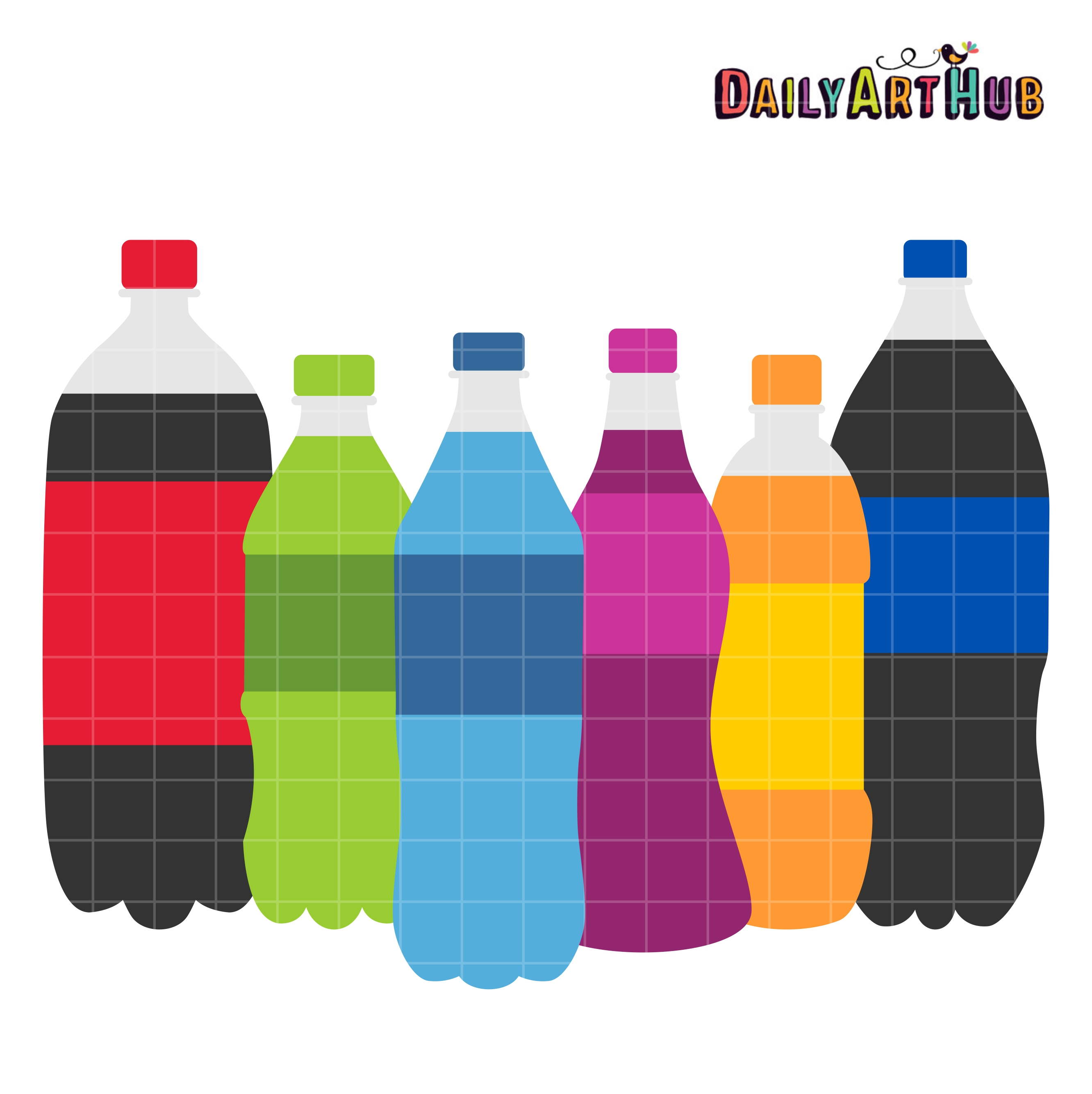 Drink clipart soda bottle Set Clip Bottles Soda Hub