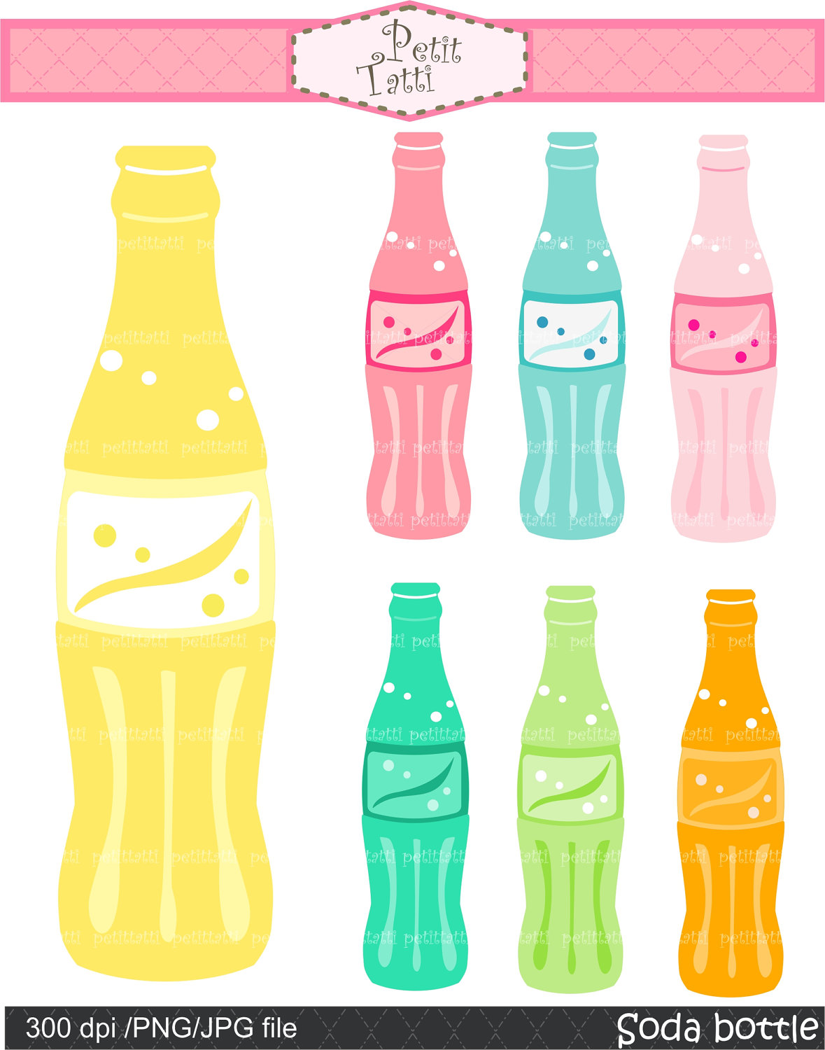 Soda clipart glass soda Digital use for party soda