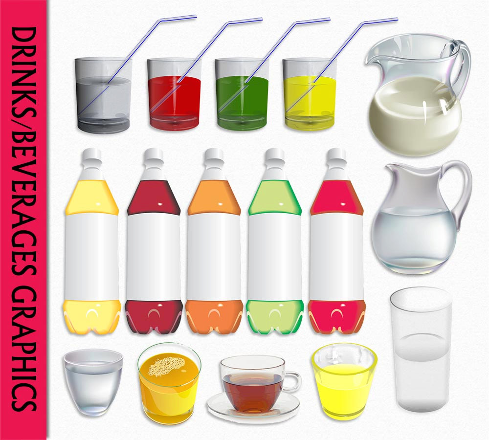 Juice clipart fizzy pop Water file Art Milk Drinks