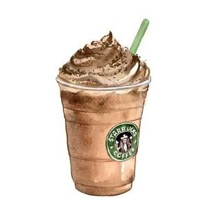 Beverage clipart starbucks Watercolor Starbucks Starbucks Polyvore Starbucks:#Luv