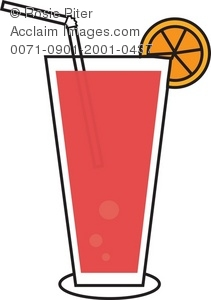 Juice clipart drinking straw #4