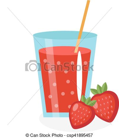 Drink clipart strawberry juice And icon Vector in white
