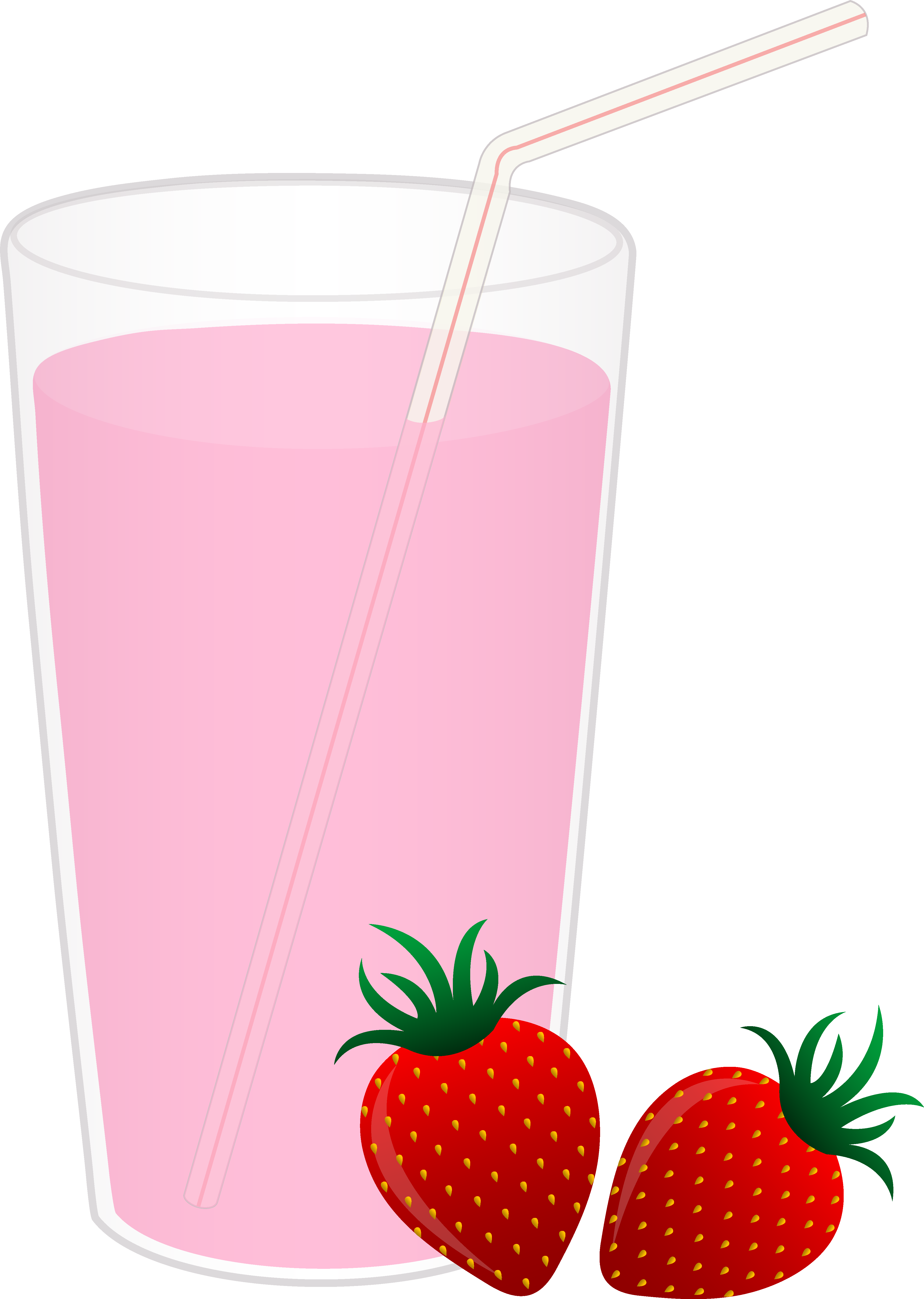 Drink clipart strawberry juice Glass Art of Free Clip