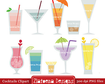 Beverage clipart summer drink / Etsy clipart Tropical Scrapbooking