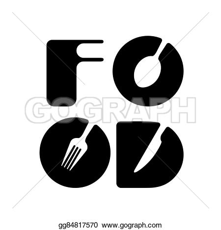 Drink clipart the word Logo Vector fork concept food