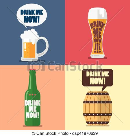 Drink clipart the word Drink Set of now word