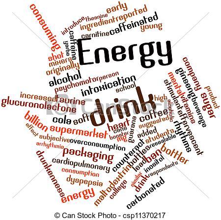 Drink clipart the word Energy Green & Keywords Art