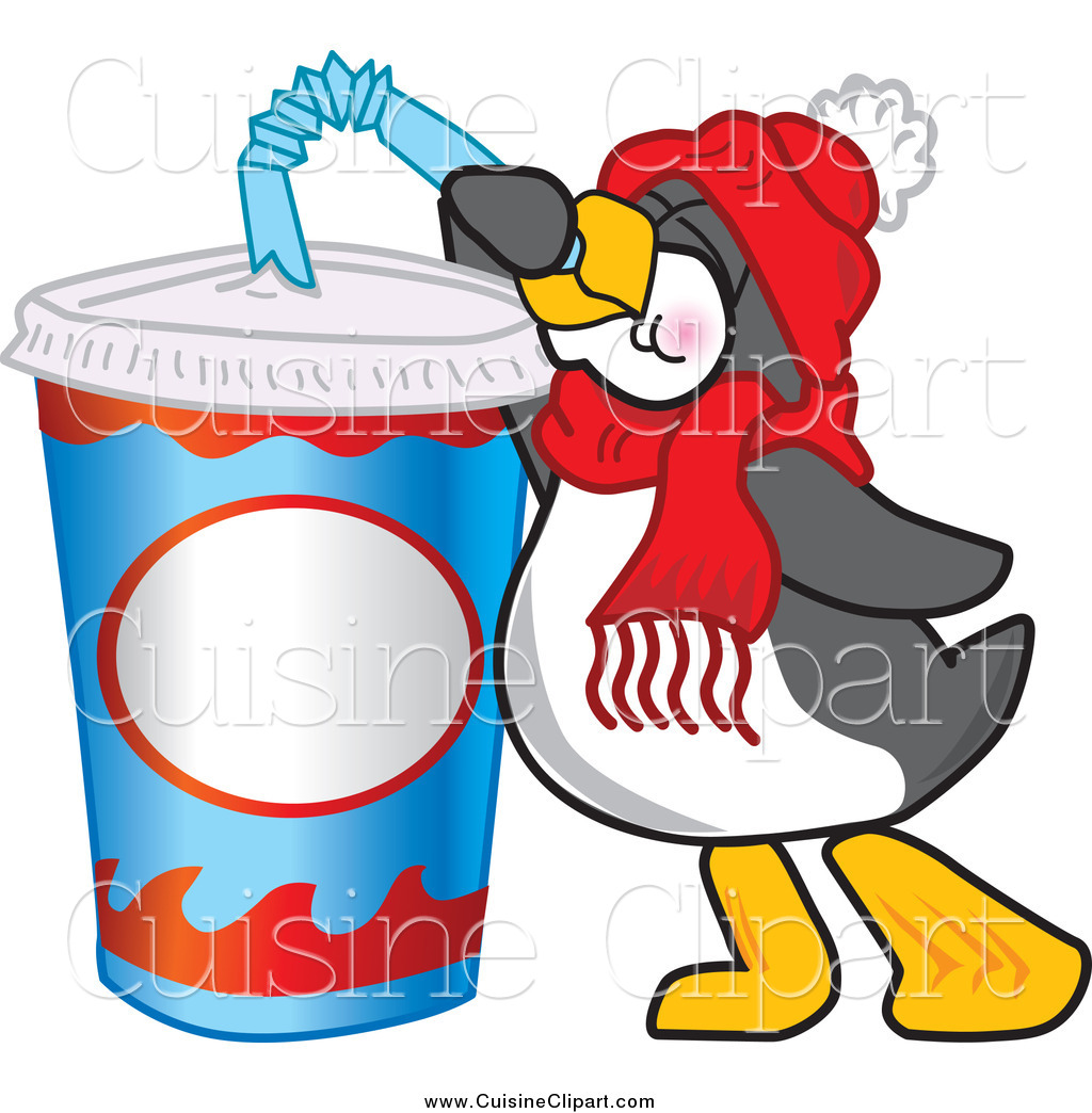 Penguin clipart drinking Royalty Thirsty Cuisine Stock a