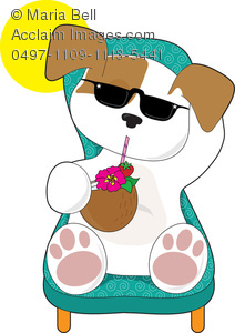 Vacation clipart relaxation On Clipart Illustration Drink Puppy