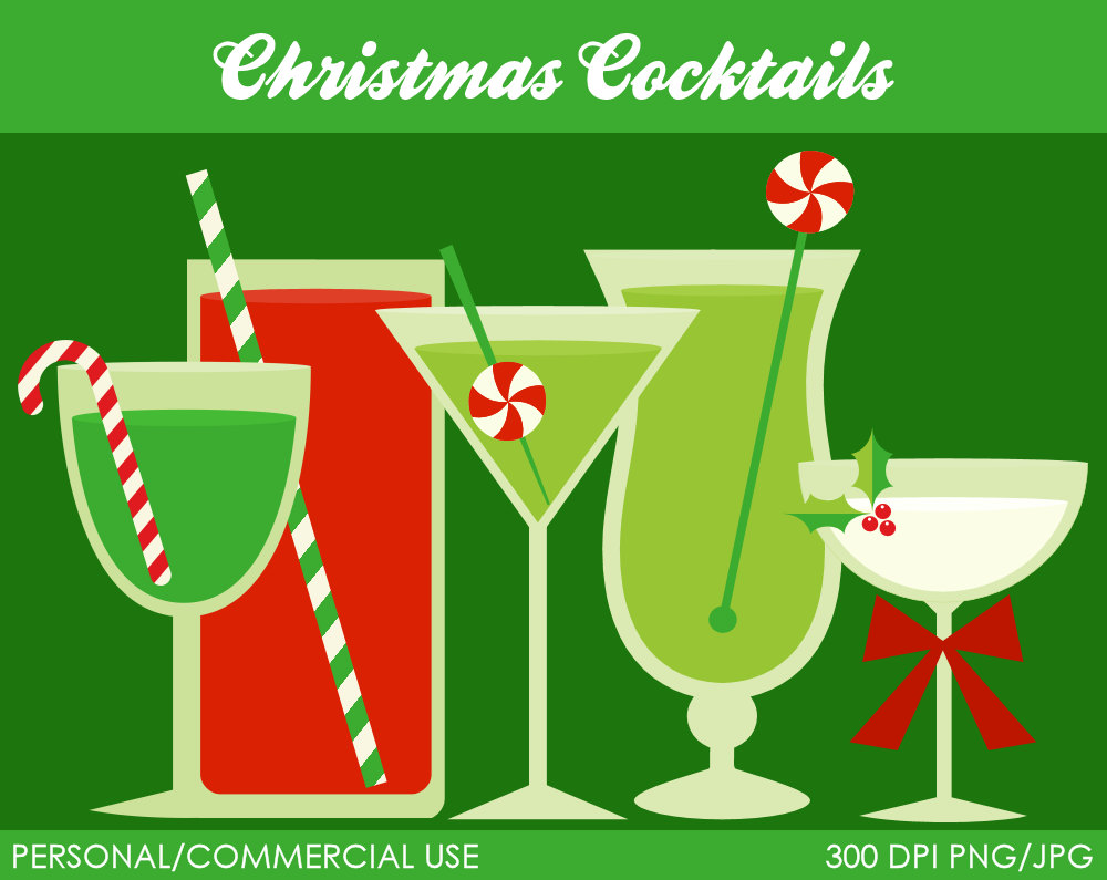 Bar clipart holiday cocktail Holiday clipart Cocktails Holiday Cocktails
