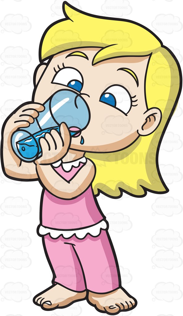 Drink clipart cute cartoon Up Water Waking A Thirsty