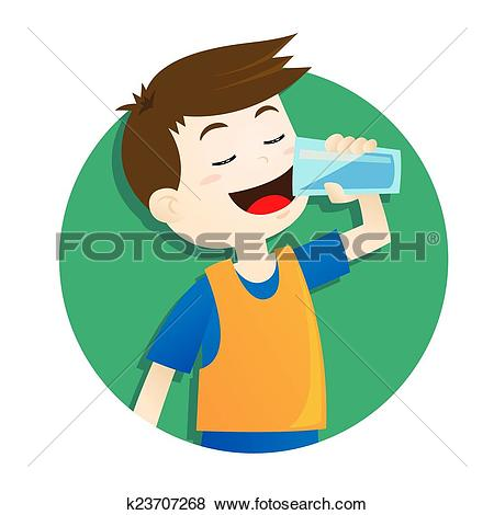 Boy clipart drink water Collection of Art clipart Drinking