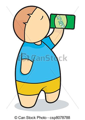 Drinking clipart Of collection Milk clipart Boy