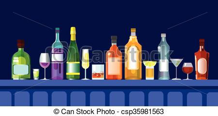 Bar clipart alcohol Of Counter Bar With With