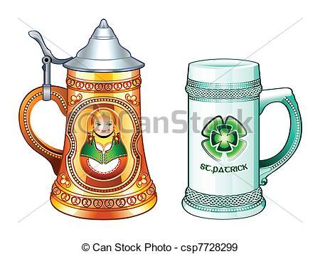 Drawn beer Steins Vectors Beer  Beer