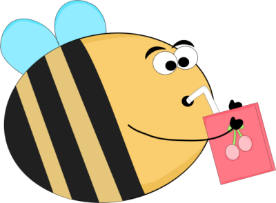 Box clipart funny Drinking Bee Funny Box Drinking